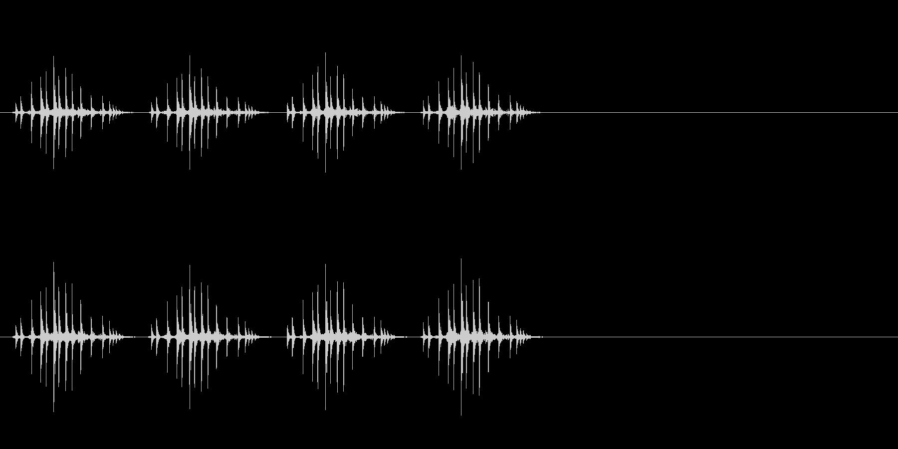 ギリギリギリギリ(リールを巻く、早め)の未再生の波形