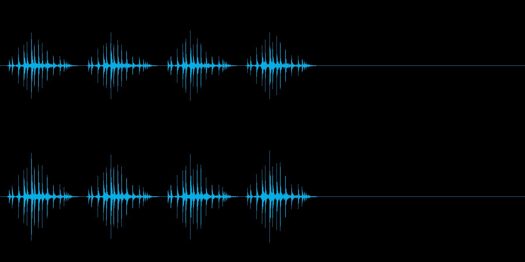 ギリギリギリギリ(リールを巻く、早め)の再生済みの波形