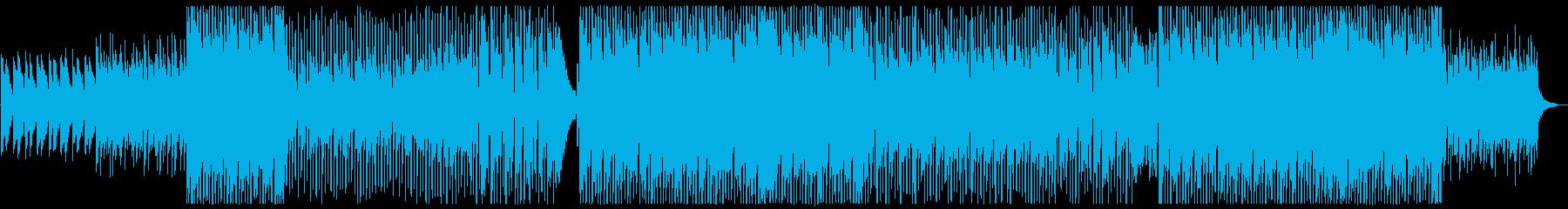 元気な4つ打ちポップロックの再生済みの波形