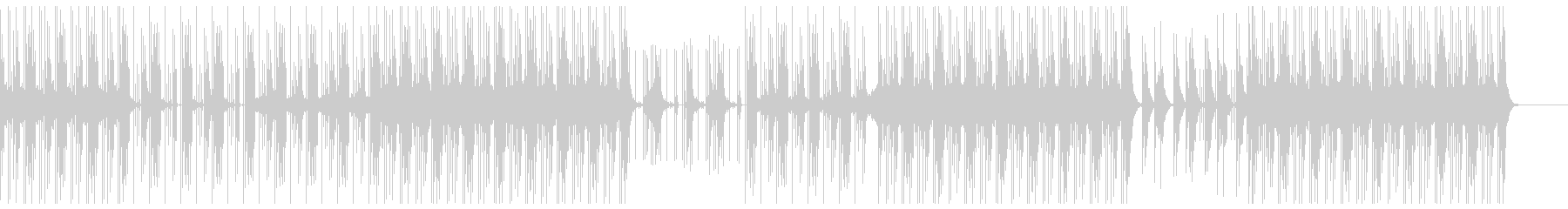 スリリング 洋楽 トラップビートの未再生の波形