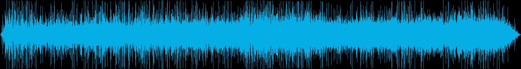 フライパンで炒める音の再生済みの波形