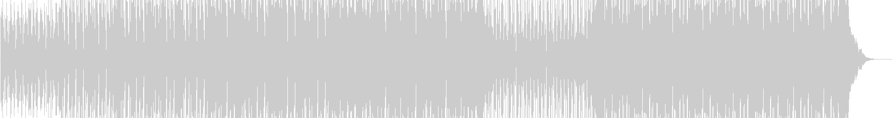 近未来感あるテクノ2の未再生の波形