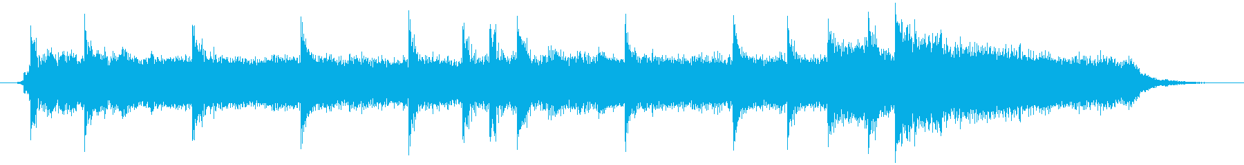 ロック系のジングルです。の再生済みの波形