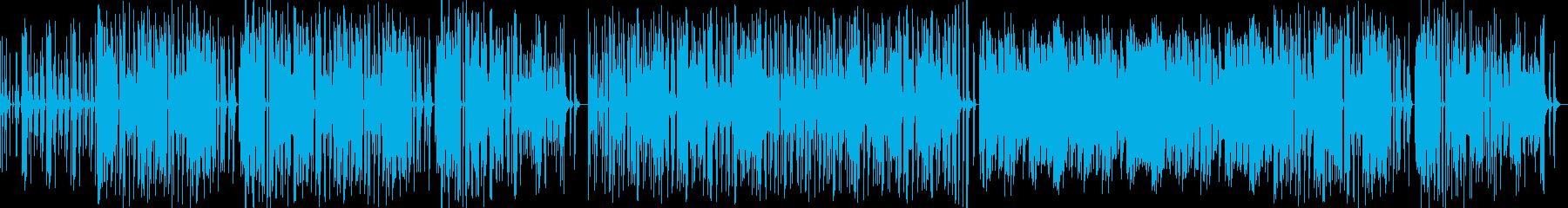 愉快なゲームミュージックの再生済みの波形
