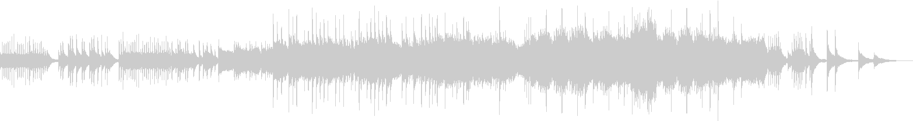 ピアノとストリングスの感動的なバラードの未再生の波形