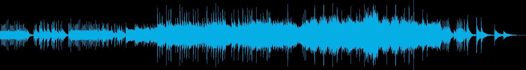 ピアノとストリングスの感動的なバラードの再生済みの波形