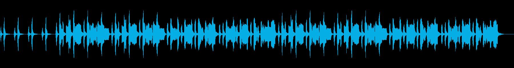 のんびりとした日常系BGMの再生済みの波形