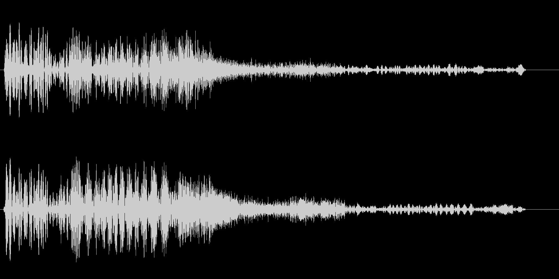 ブギュウゥンボンという機械の効果音の未再生の波形