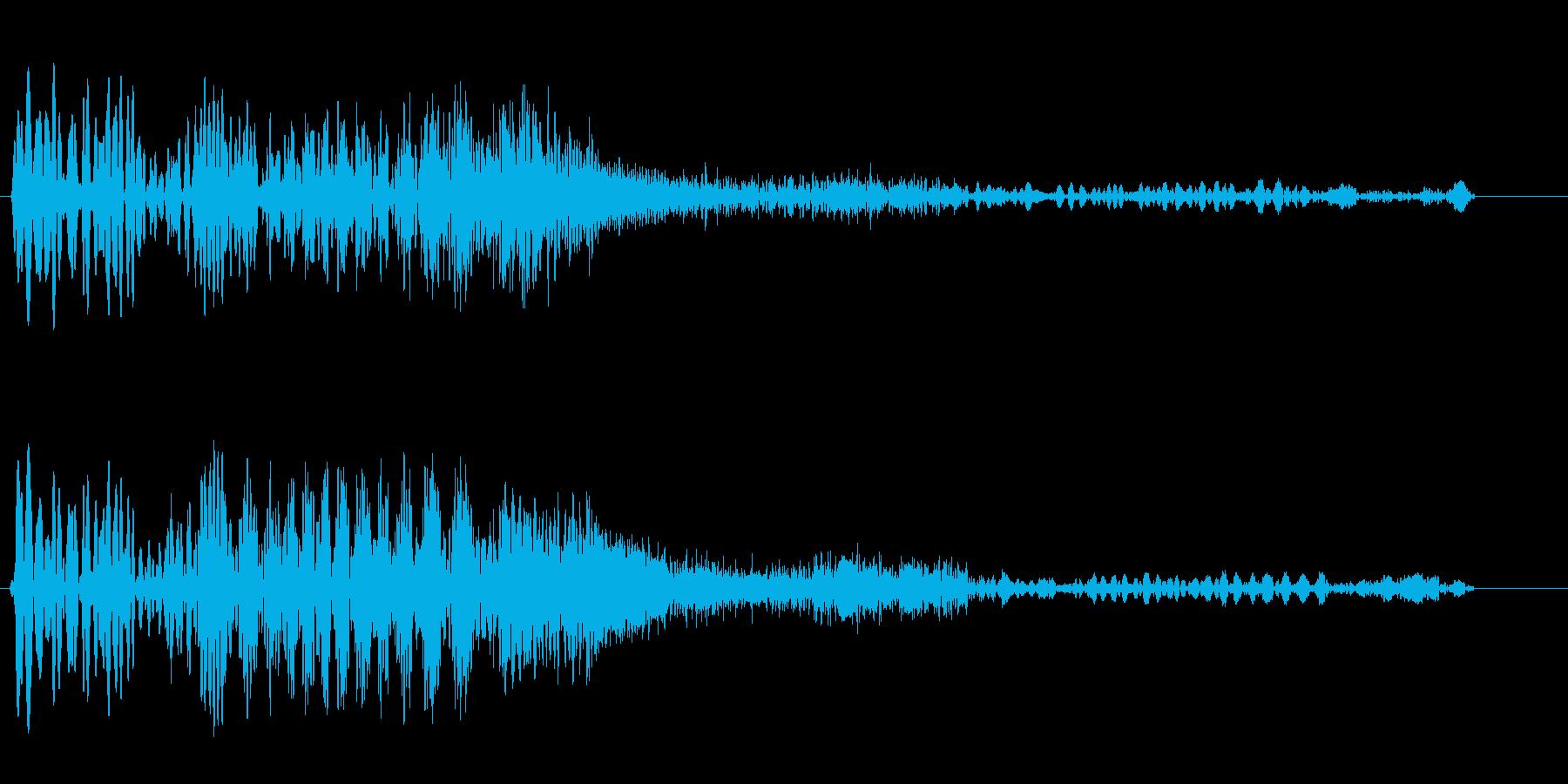 ブギュウゥンボンという機械の効果音の再生済みの波形
