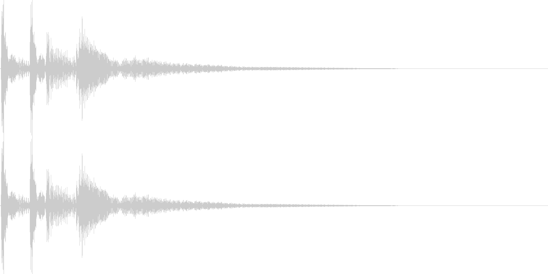 ガクッと落ち込む音の未再生の波形