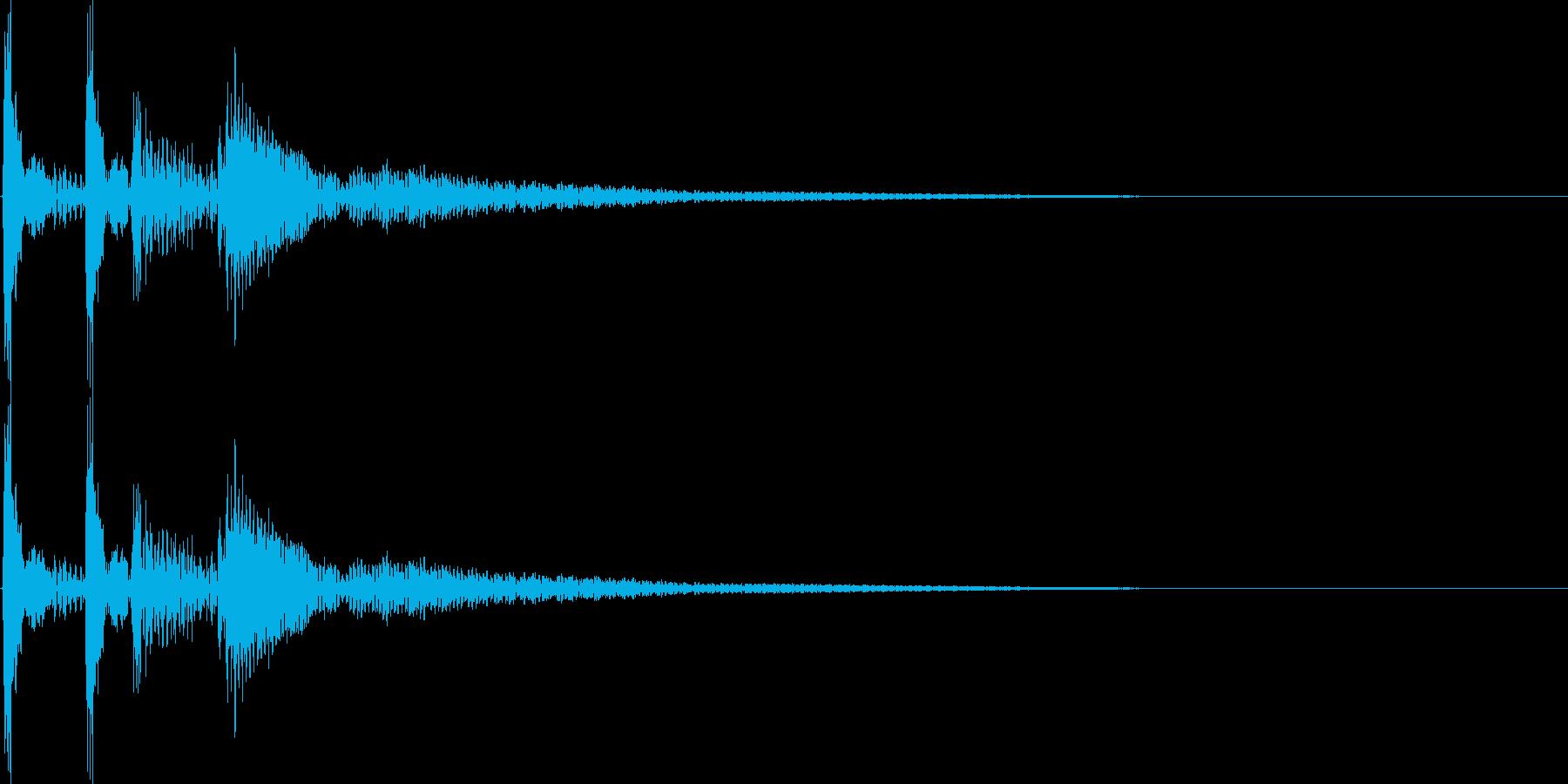 ガクッと落ち込む音の再生済みの波形