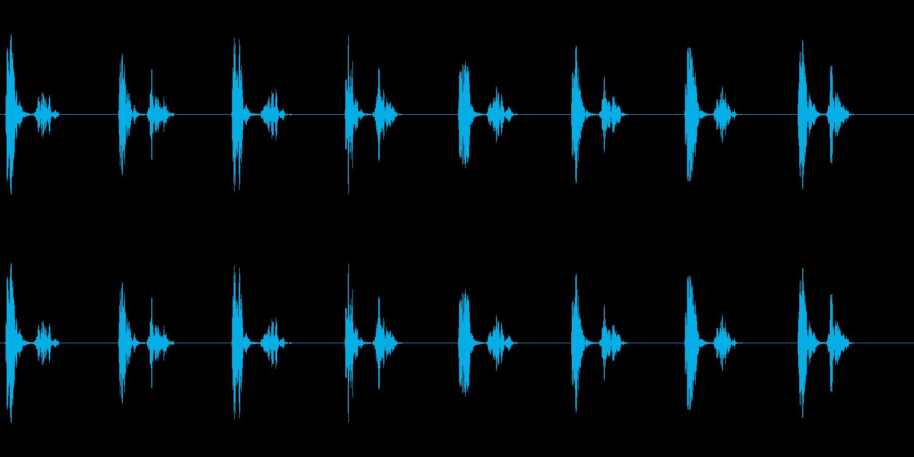 きゅむっ、きゅむっ…(足音、丸い、肉球)の再生済みの波形