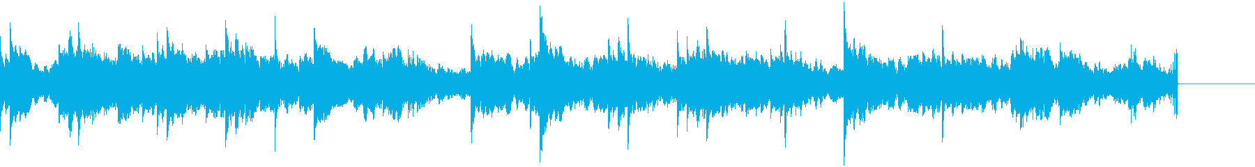 深刻、ダークな雰囲気のBGMの再生済みの波形