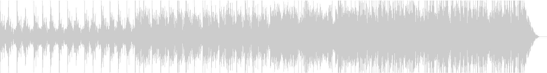 ボレロ風から曲調が大きく変化するBGMの未再生の波形