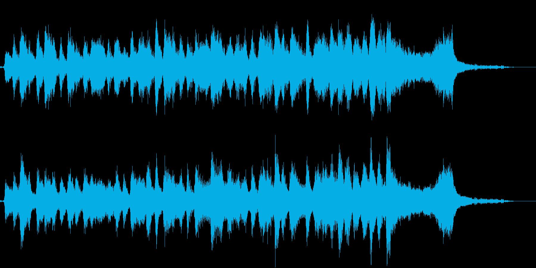 弦楽四重奏とピアノ、軽快感のあるジングルの再生済みの波形