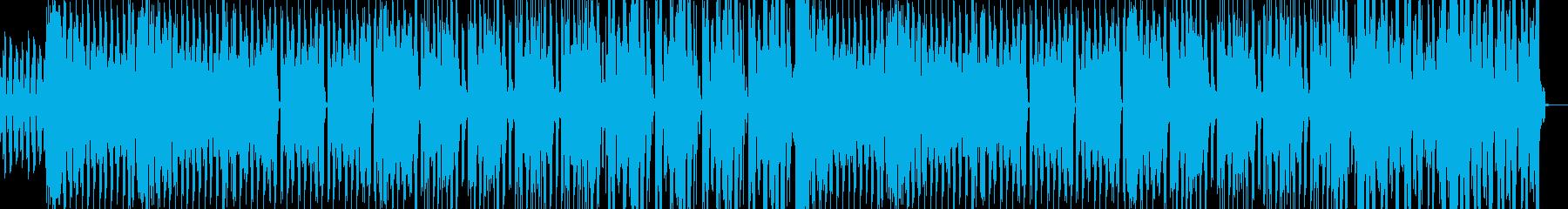 疾走感のあるビートとEDM風シンセの再生済みの波形