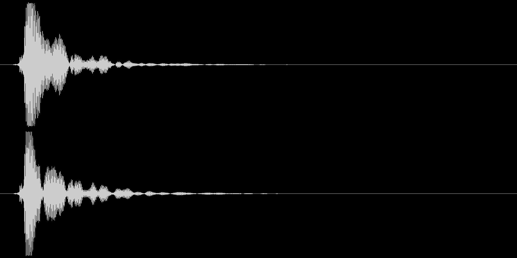 ポン (抜くような音)の未再生の波形