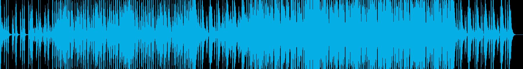 懐かしい感じのファンクミュージックの再生済みの波形