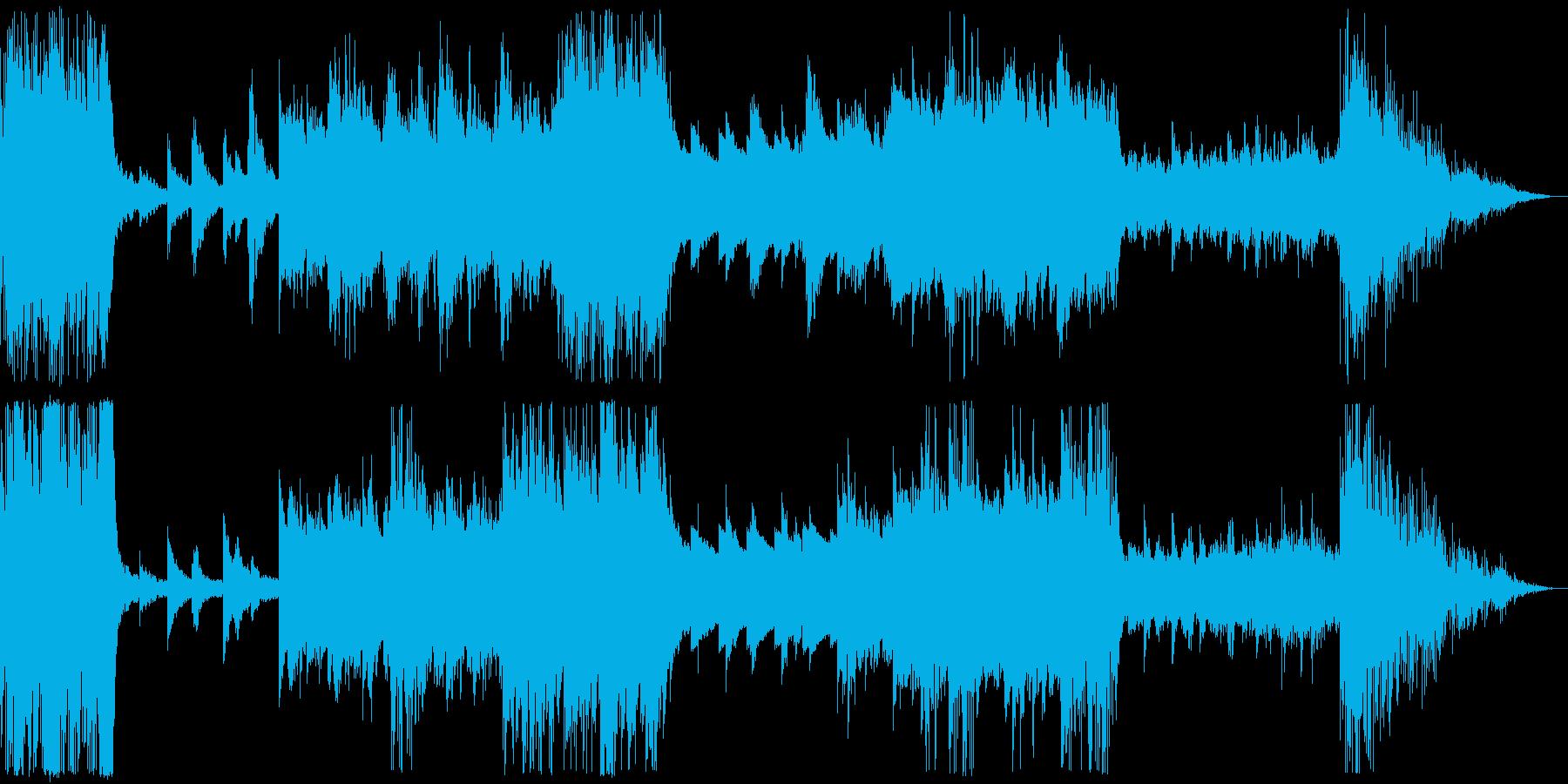 クール&ドライな雰囲気のエレクトロニカの再生済みの波形
