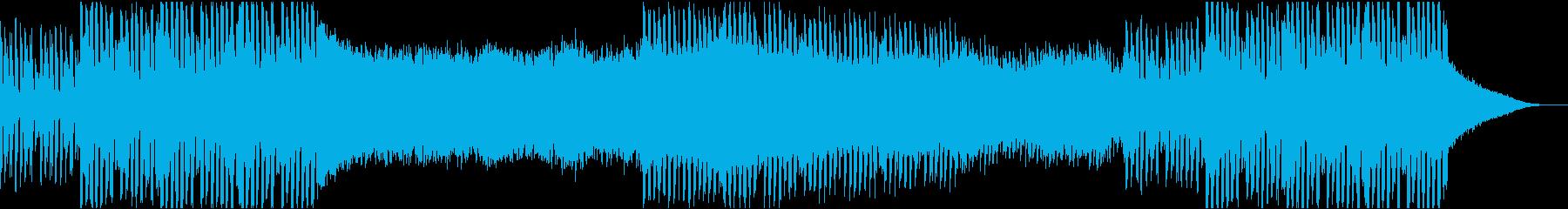 【トランス】力強く、緩急もある曲調の再生済みの波形