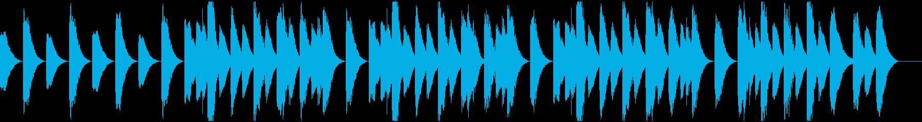 ほのぼの陽気なラグタイムピアノ の再生済みの波形