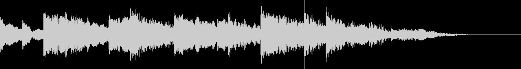 チャイム(8秒)の未再生の波形