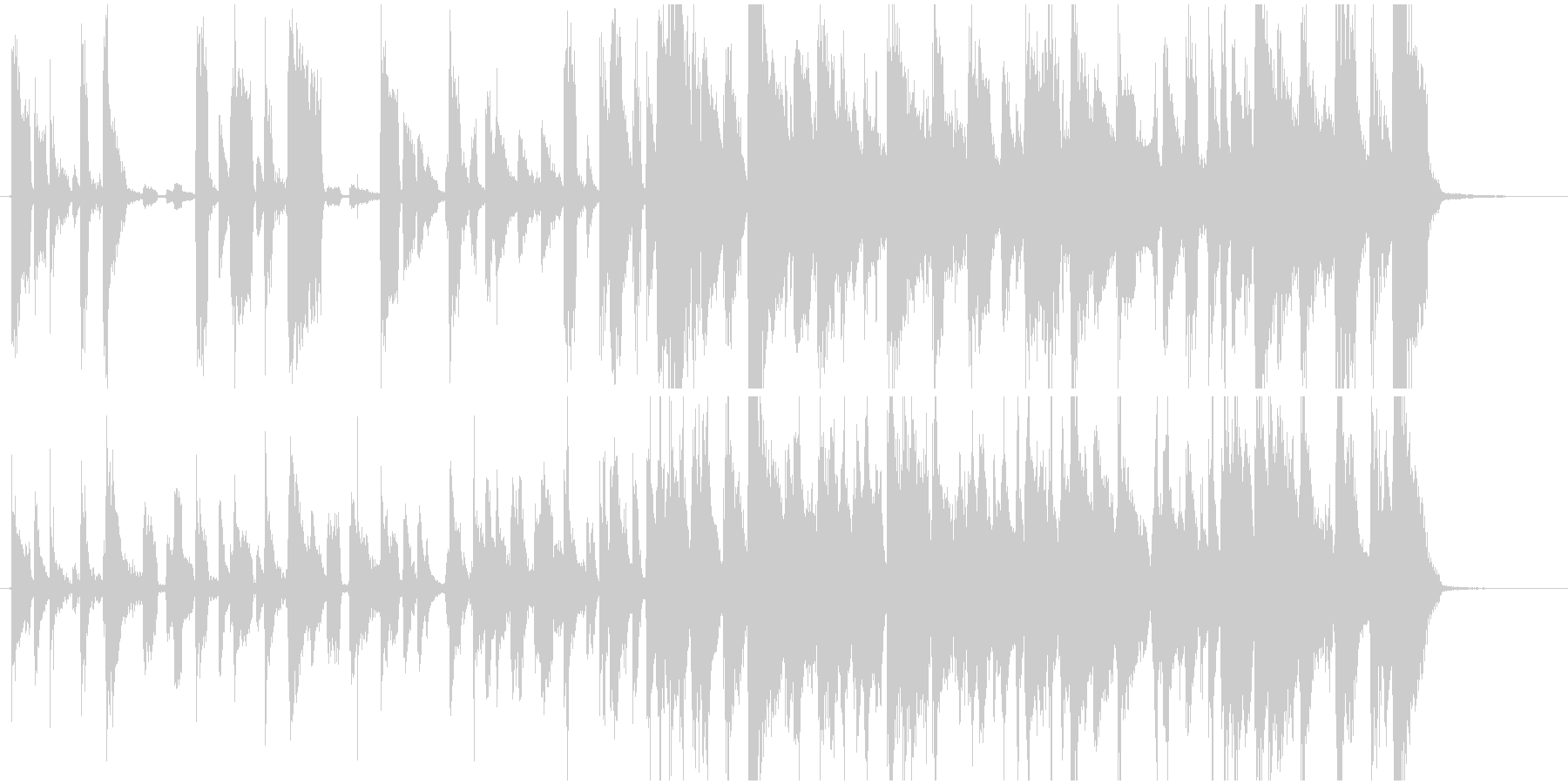 エレピとギターカッティングのジングルの未再生の波形