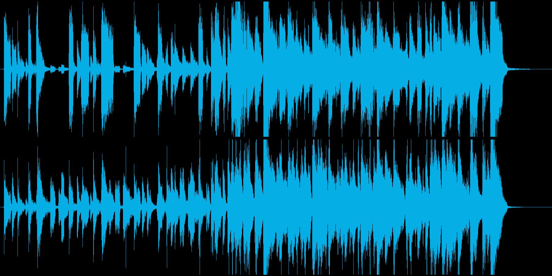 エレピとギターカッティングのジングルの再生済みの波形
