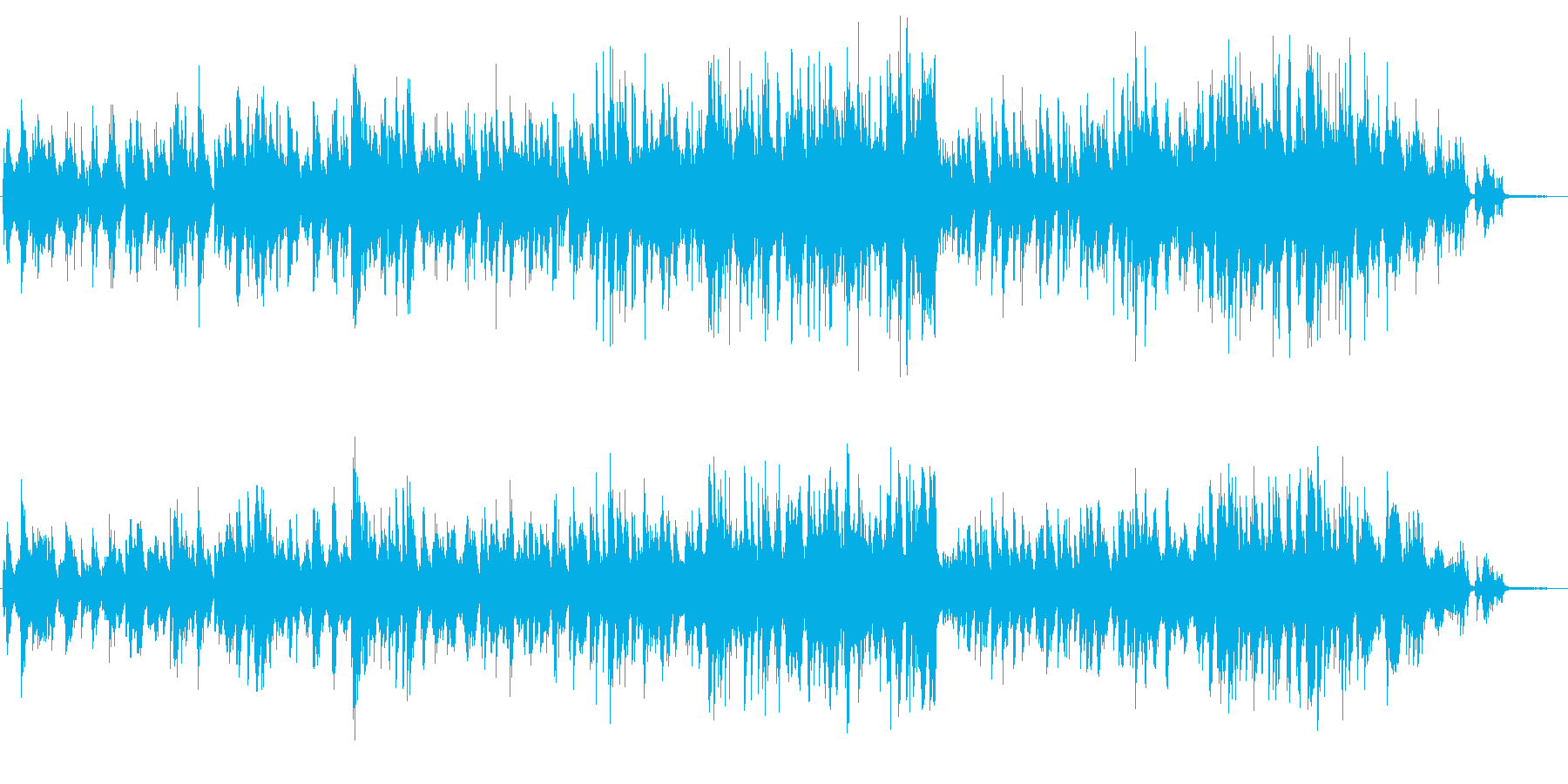 メロディアスで美しいバラードのピアノソロの再生済みの波形