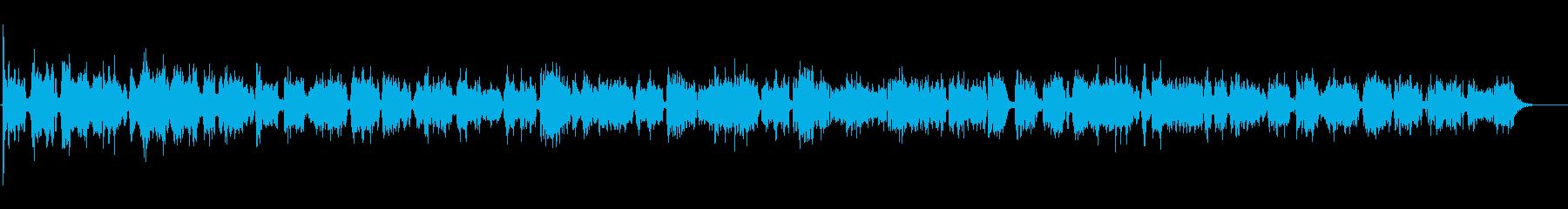 アコーディオンによるカバー曲の生演奏の再生済みの波形