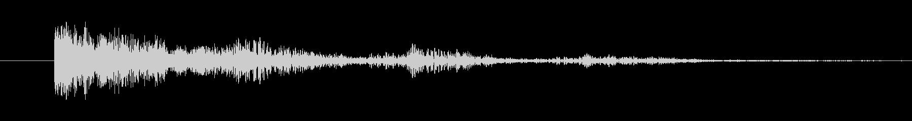 ぽわぽわした効果音の未再生の波形