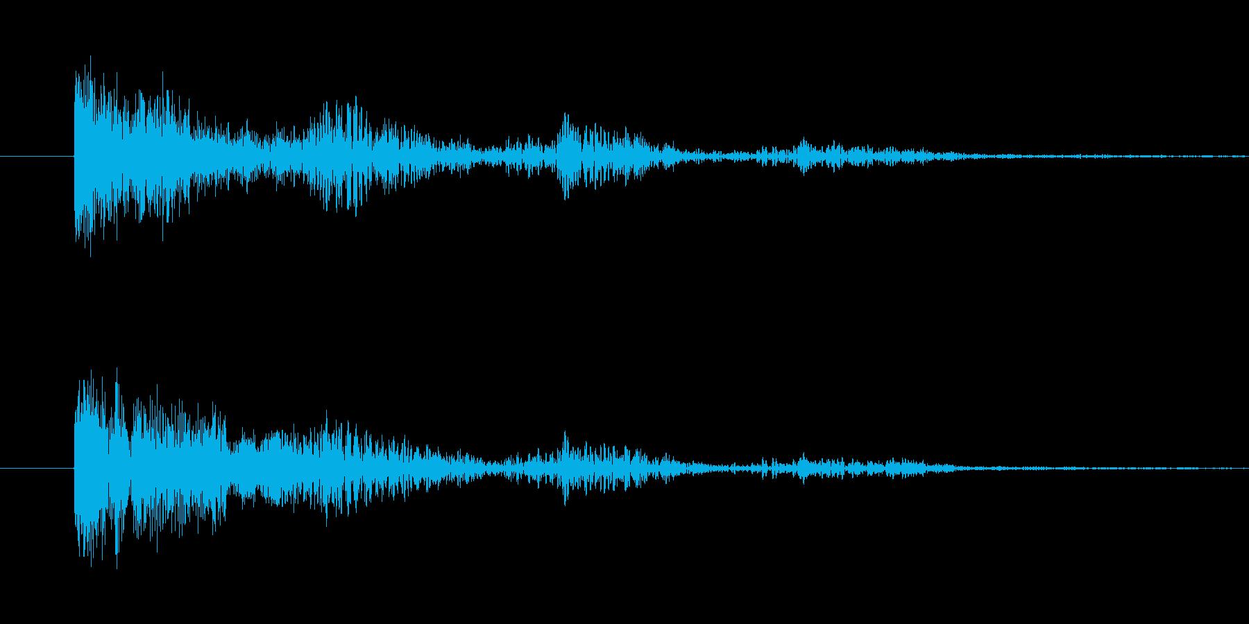 ぽわぽわした効果音の再生済みの波形