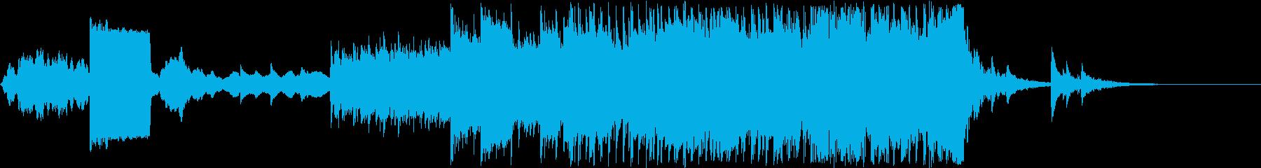シンセを使った近未来感のある曲の再生済みの波形