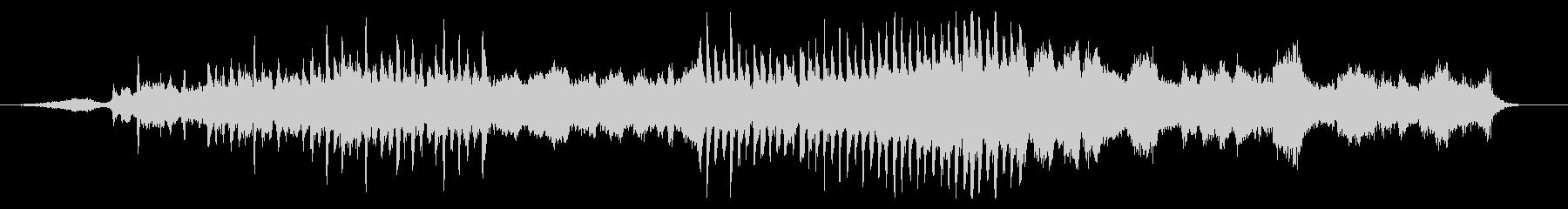 凛とした佇まいの和テイスト風オーケストラの未再生の波形