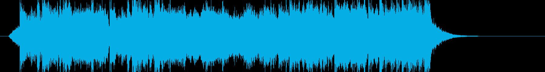 オーケストラのファンファーレの再生済みの波形
