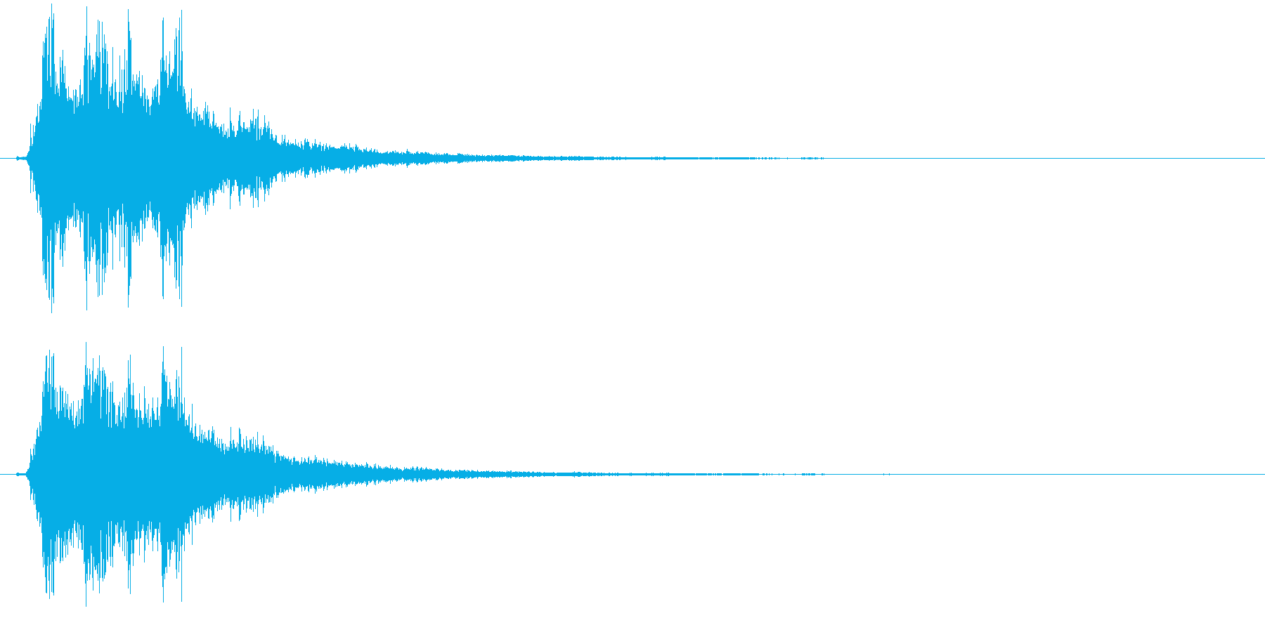 シャーン(キラキラ系、鈴、決定)の再生済みの波形