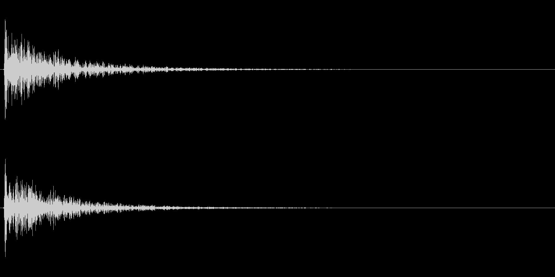 【衝撃01-1】の未再生の波形