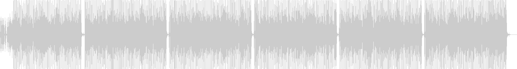 アップテンポのロックロール!200bpmの未再生の波形