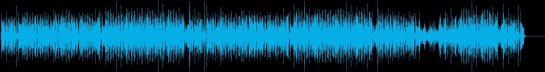 ほのぼのした日常系のボサノバポップスの再生済みの波形
