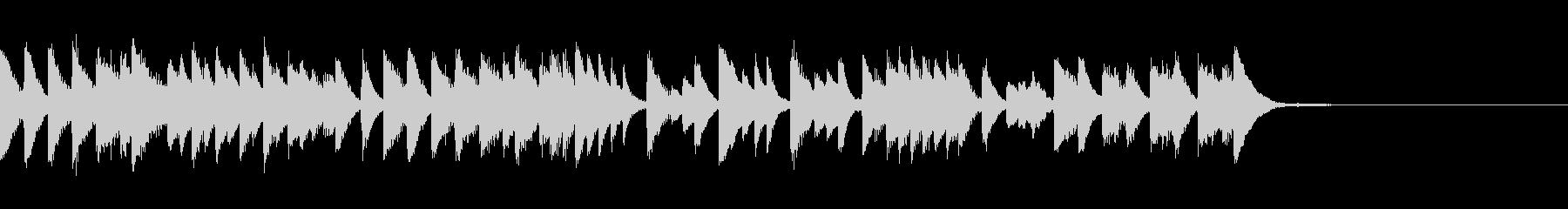 賑やかでスピード感のあるピアノジングルの未再生の波形