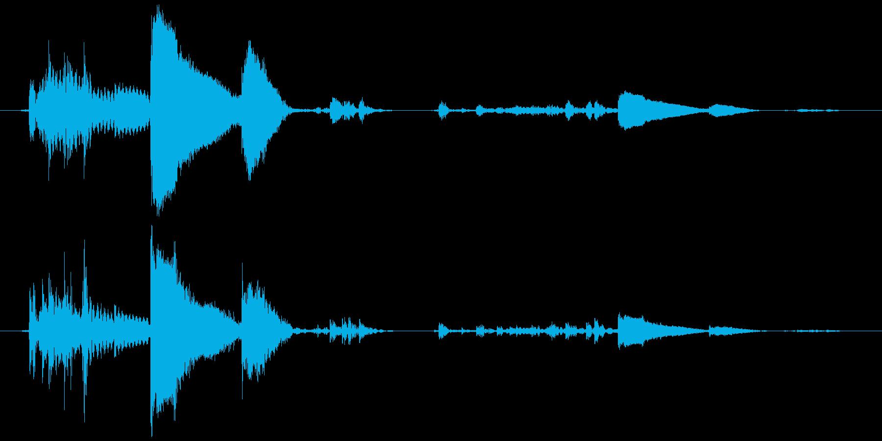 鈴の音 (高音)チッリッの再生済みの波形