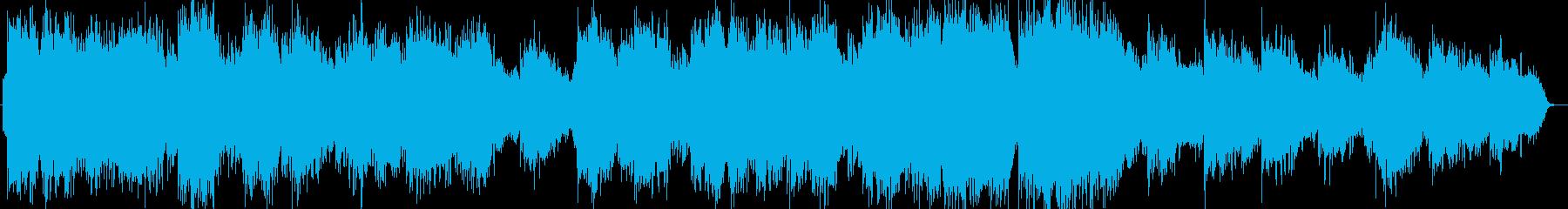 静かな笛のヒーリング音楽の再生済みの波形