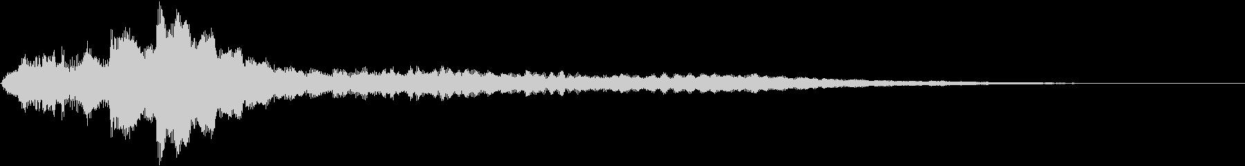 ローファイ・ドキュメンタル風ピアノdの未再生の波形