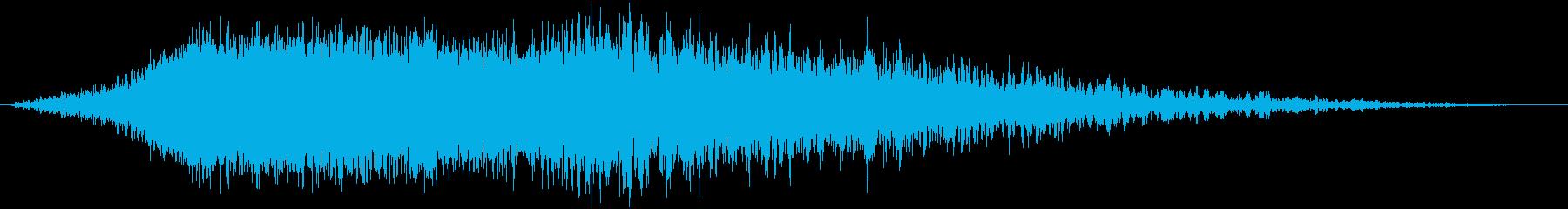 シューッという音EC07_84_5の再生済みの波形