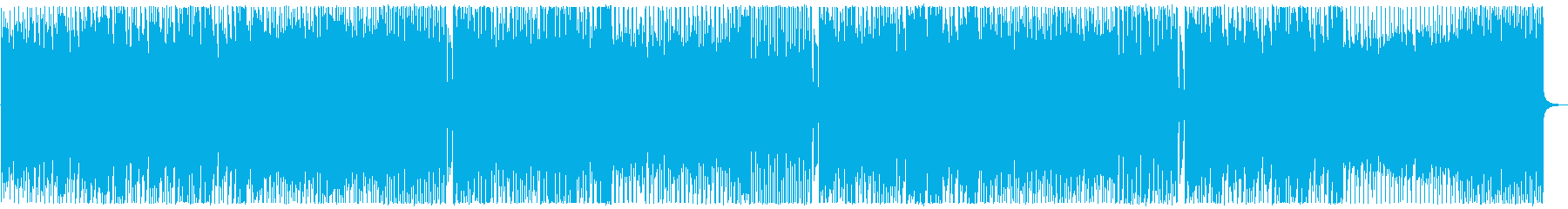 A bright, rhythmical, a little comical song's reproduced waveform