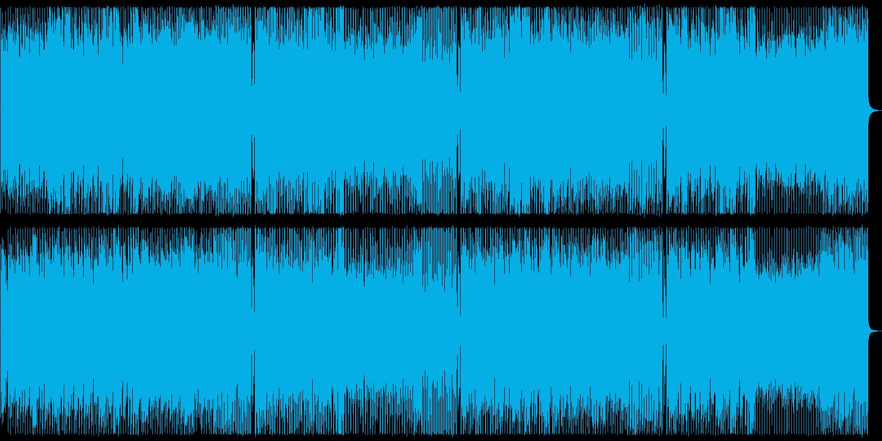 明るくリズミカルで少しコミカルな曲の再生済みの波形