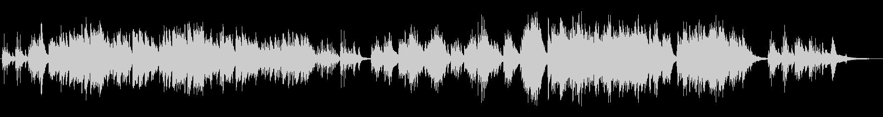 生ピアノで奏でる日本のうた:ゆりかごの歌の未再生の波形