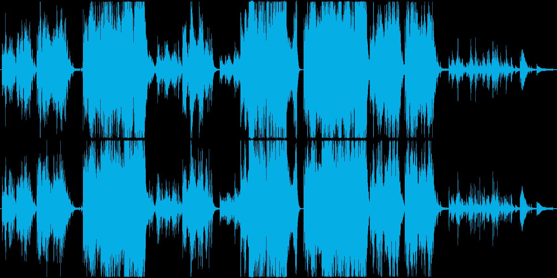 優しく幻想的な感動系ピアノ曲の再生済みの波形