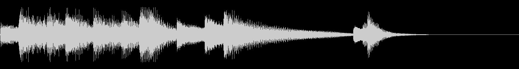 10秒未満の短く軽快なピアノのジングルの未再生の波形