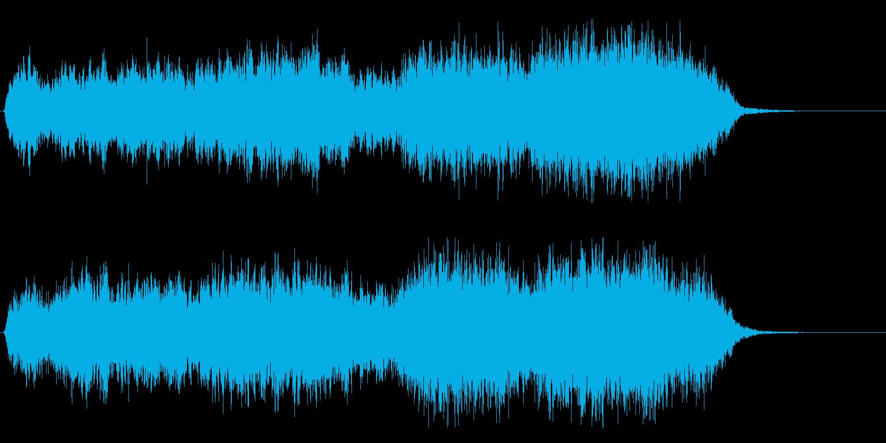 ファンタジーな壮大な神々しい合唱 20秒の再生済みの波形